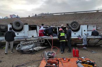 واژگونی مرگبار اتوبوس کارکنان پالایشگاه نفت + عکس