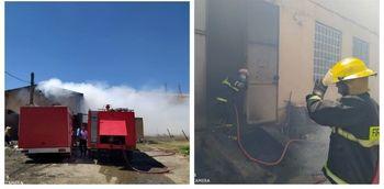 آتشسوزی گسترده در کارگاهچوب جاده بیستون