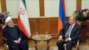 روحانی با رئیس جمهور امنستان دیدار کرد