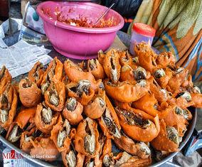 تصاویر خوشمزه از بازار غذاهای سنتی در کشمیر