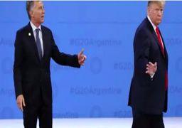 حرکت عجیب ترامپ در دیدار با رئیسجمهور آرژانتین +فیلم