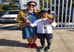 رونالدوی کوچک درپی شکستن رکوردهای پدر+عکس