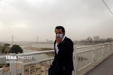 تصاویر هوای غبارآلود اهواز