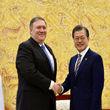 پمپئو با رئیسجمهور کره جنوبی دیدار کرد