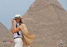 بازدید ملانیا ترامپ از اهرام مصر