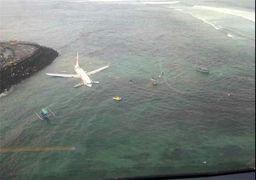 جدید ترین فیلم از سقوط هواپیما به دریا در اندونزی