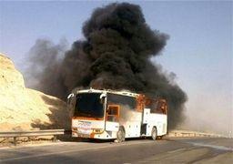 در حادثه تصادف اتوبوس تهران-کرمان با تانکر سوخت  نفر کشته شدند + فیلم