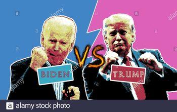فیلم آماده شدن بایدن برای مناظره با ترامپ