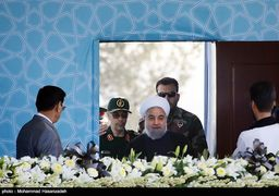 احترام نظامی فرماندهان ارشد نیروهای مسلح کشور به رئیس جمهوری + عکس