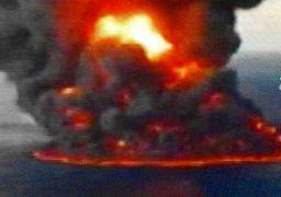 فیلمی از جهنم آتش روی نفتکش سانچی