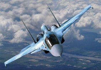 سقوط جنگنده سوخوی روسیه
