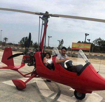 هلیکوپتر فوتبال ایران با دخترش در جزیره کیش +عکس