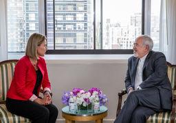 ظریف در نیویورک با موگرینی دیدار کرد