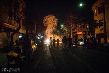 بازی با آتش در آخرین شب چهارشنبه سال