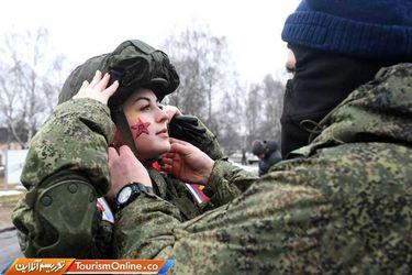 تصاویری از نظامیان زن در ارتش روسیه