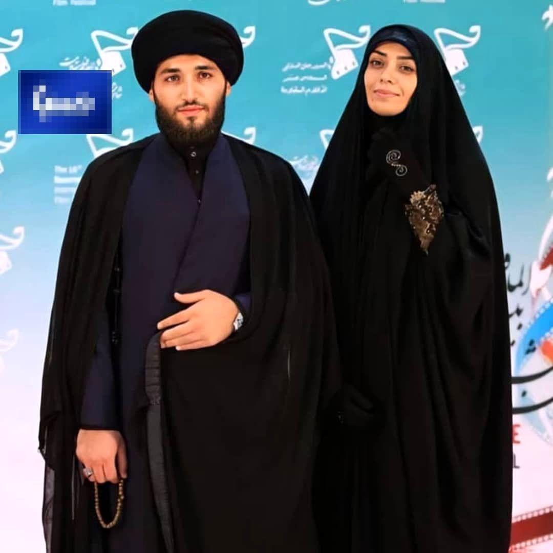 تصویری از الهام چرخنده و همسرش
