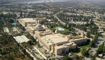 اصابت 3 موشک به سفارت آمریکا در بغداد