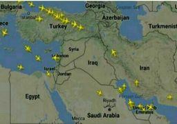 افزایش عبور هواپیماهای قطری از کریدور هوایی ایران + عکس