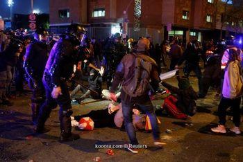46 نفر در شب الکلاسیکو مصدوم و 9 نفر بازداشت شدند