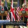 ترامپ: برای حفظ فشار بر ایران ترزا می را تشویق کردم