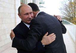 ساعت 10 هزار دلاری پوتین در دیدار با بشار اسد + عکس