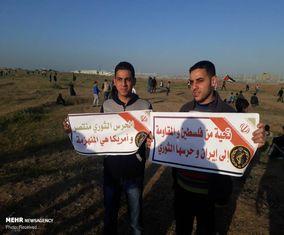 حمایت مردم غزه از سپاه پاسداران +تصاویر