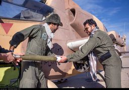 گزارش تصویری تمرین تیراندازی بالگردهای هوانیروز کرمانشاه