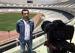 فوتبالیست استقلالی جلوی دوربین سینما +عکس