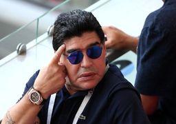 مجازات مارادونا به خاطر انتقاد از ترامپ
