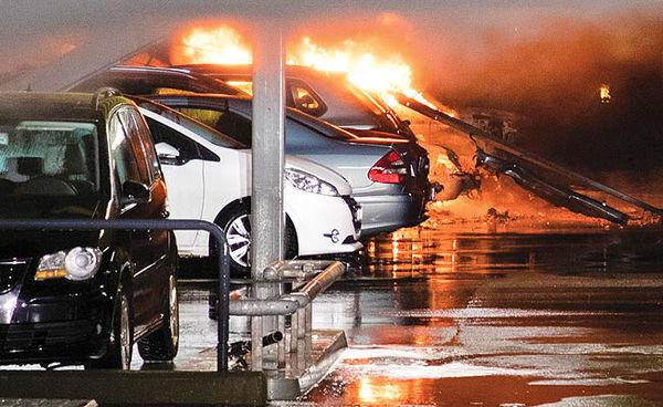 سوختن صدها خودرو در نروژ