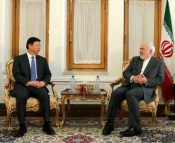 دیدار ظریف با وزیرخارجه حزب کمونیست چین