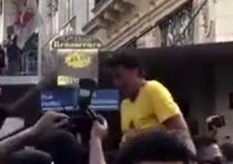 لحظه حمله با چاقو به نامزد ریاست جمهوری برزیل +فیلم