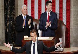 ماکرون در بازگشت ار آمریکا : نتوانستم ترامپ را قانع به ماندن در برجام کنم