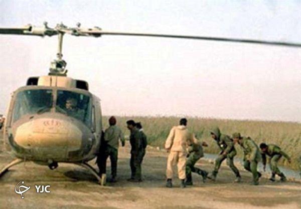 خلبان ارتشی که با بالگرد از ارتش بعثی اسیر گرفت + تصاویر