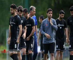 تمرین تیم ملی ایران قبل از بازی با پرتغال
