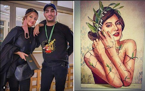 نقاشی برهنه مهناز افشار