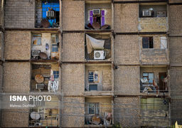 گزارش تصویری از ساختمان شش طبقه خرمشهر در مولوی