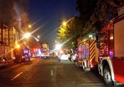 فیلم    آتشسوزی گسترده در انبار لباس در چهارراه استانبول تهران