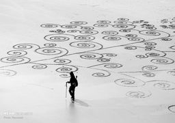 طرحهای خلاقانه نقاش هنگکنگی روی شنهای ساحل
