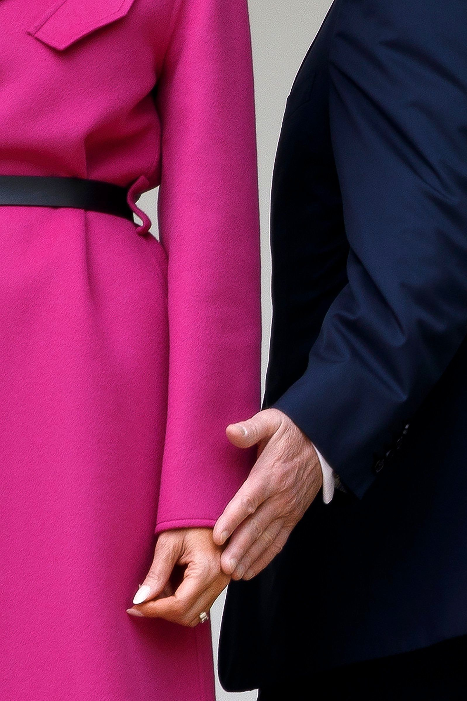First Lady Melania Trump weathered a tumultuous year for the White House by the side of her husband, as she was in this image on April 11. As the President faces potential impeachment and removal from office, she remains a source of stability.