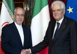 سفیر جدید ایران در ایتالیا استوارنامه خود را تقدیم رئیس جمهوری ایتالیا کرد