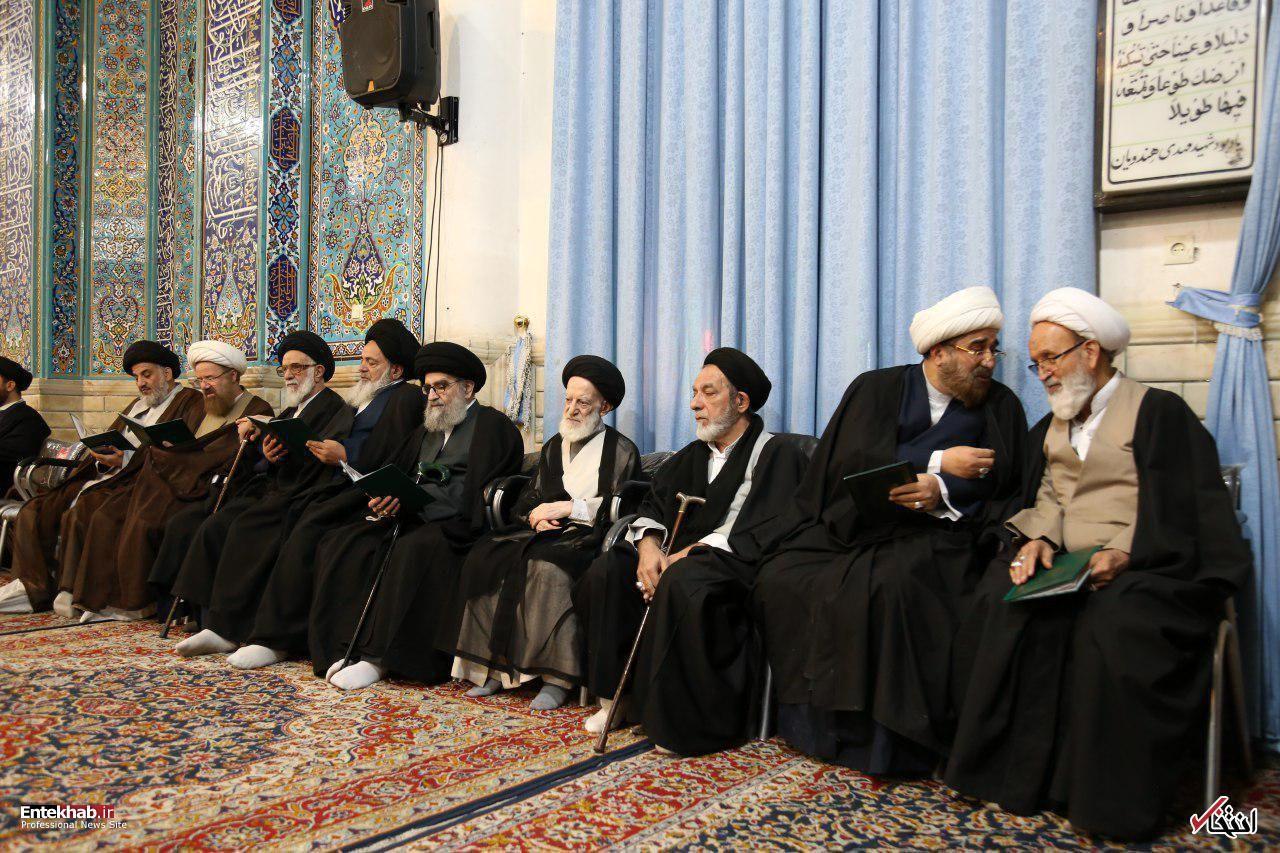 تصاویر: تشییع و ترحیم همشیره آیتالله شبیری زنجانی