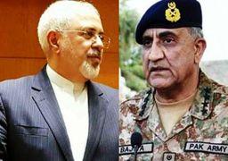 ظریف با فرمانده ارتش پاکستان دیدار و گفتوگو کرد
