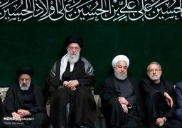 تصاویر| دومین شب عزاداری محرم با حضور رهبری و رؤسای قوا در حسینیه امام(ره)