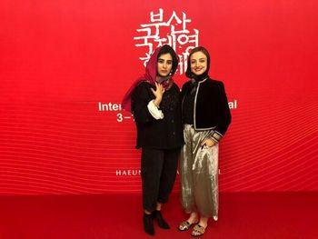 تیپ جالب دو بازیگر ایرانی در جشنواره بوسان + عکس