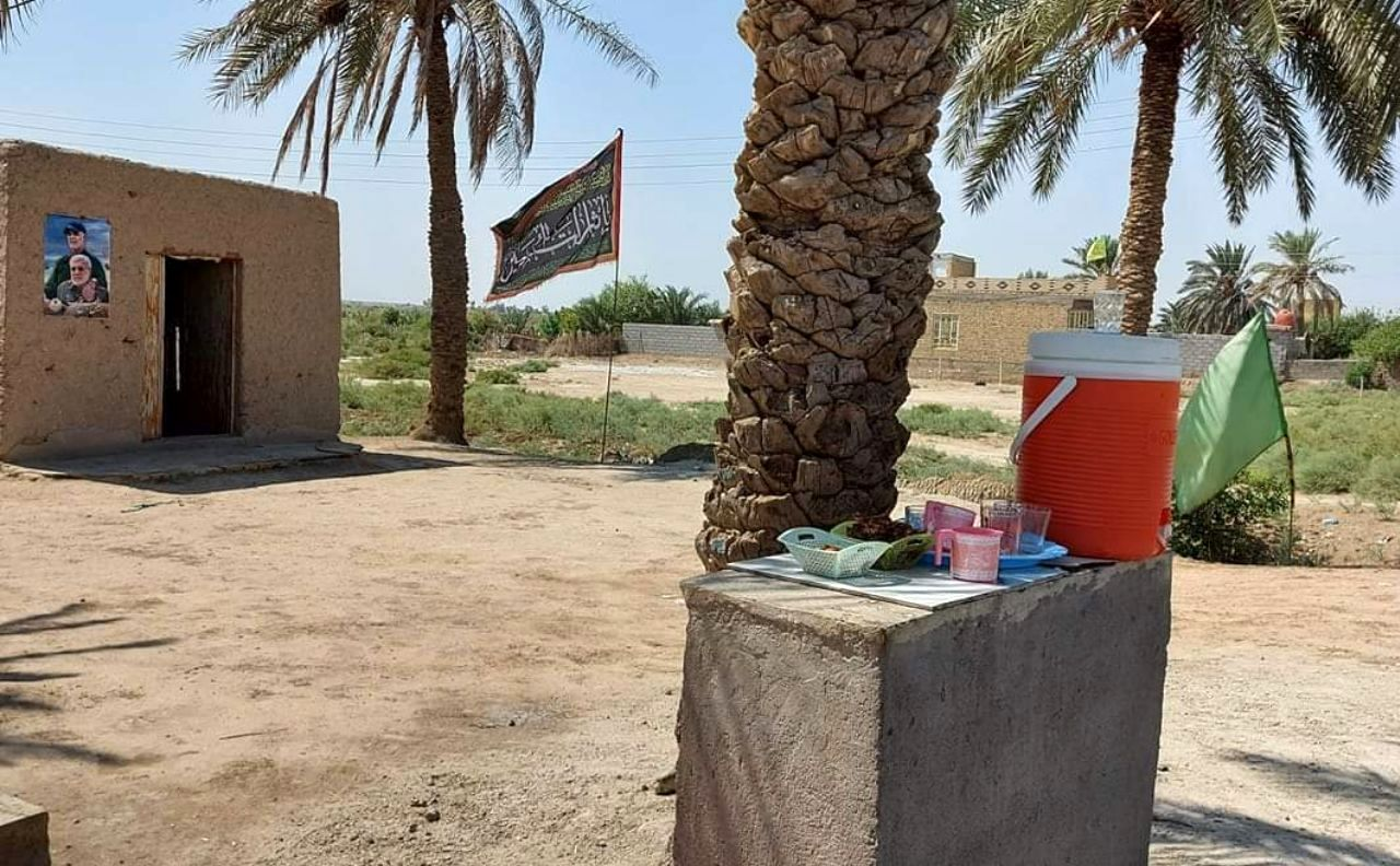 عکس سردار بر موکب عراقی