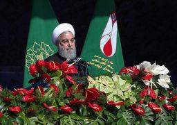 حسن روحانی در مراسم 22 بهمن: جمعیت ما دو برابر شده، باید کار و تلاشمان  هم دو برابر باشد/ اختلاف بین دهک بالا و پایین جامعه در رژیم گذشته ۳۵ برابر بود/ برای ساخت موشک از کسی اجازه نخواهیم گرفت