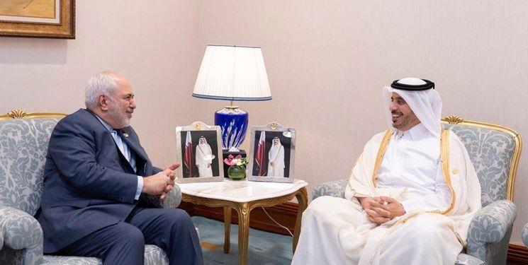 ظریف با نخستوزیر قطر دیدار کرد