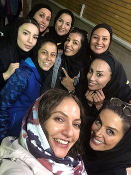 حضور مهناز افشار در بازی دوستانه تیم ملی فوتسال ایران و اوکراین در تهران+عکس