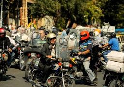 « طرح ترافیک » در یک قدیمی موتورسیکلت های تهران